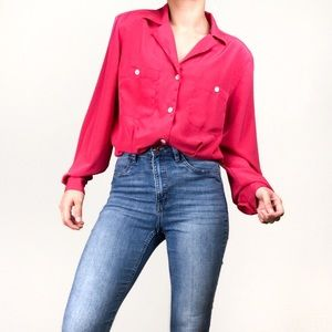 VTG Christian Dior Chemises Button Down Blouse